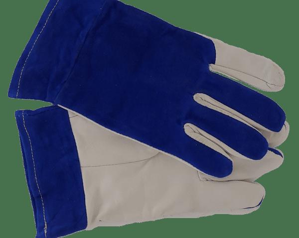 my gas blue white welding glove